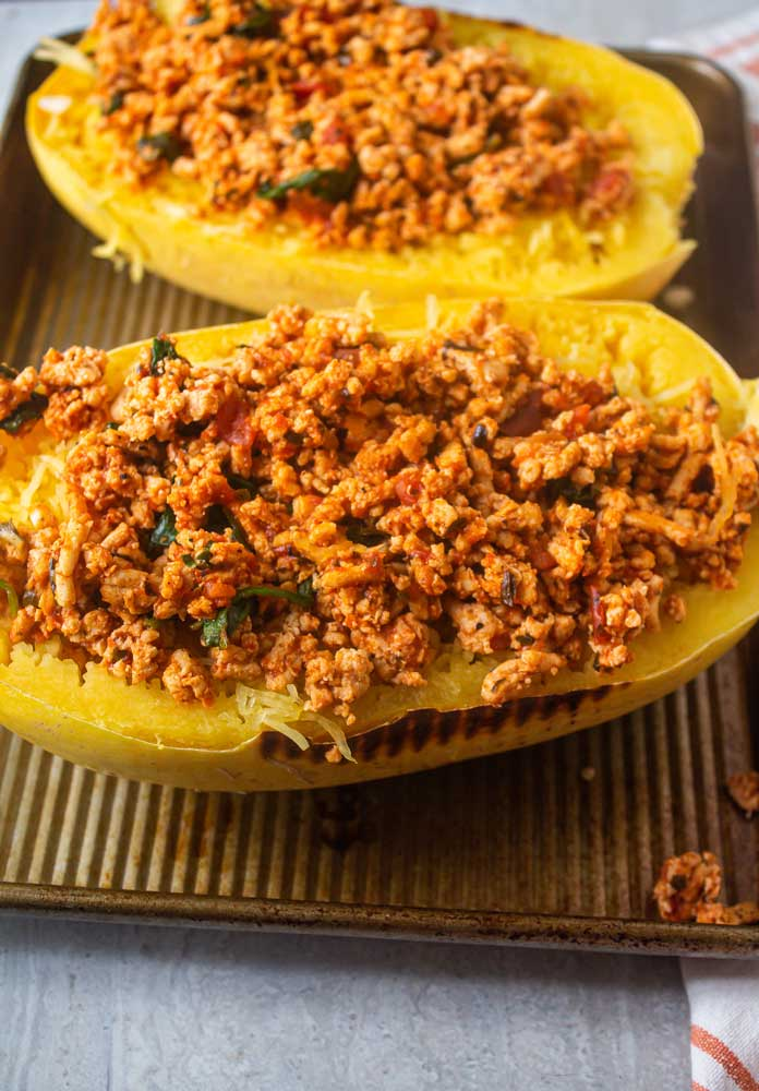 healthy spaghetti squash recipe with chicken