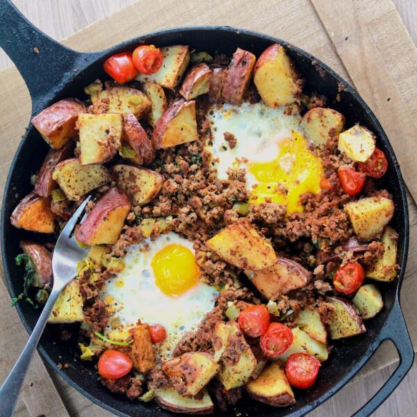breakfast skillet with potatoes