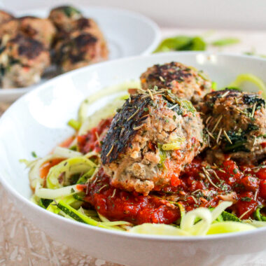 Paleo Turkey Meatballs and Zoodles