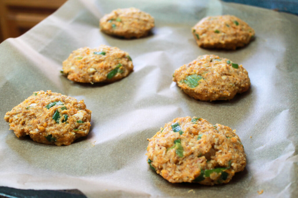 paleo sweet potato salmon patties