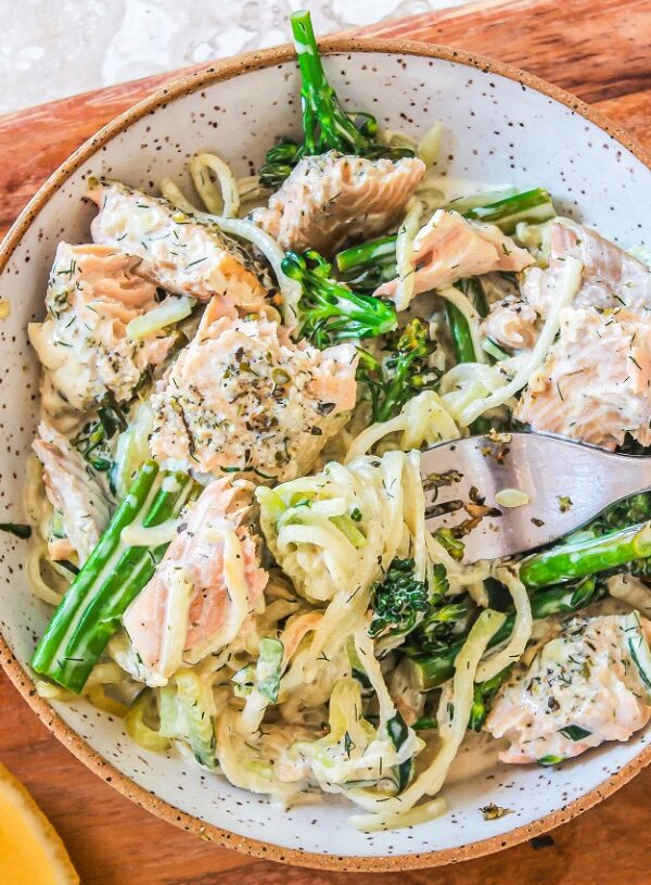 Salmon Pasta with Creamy Dill Sauce