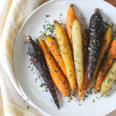Paleo Roasted Rainbow Carrots (Whole 30, AIP)