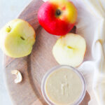 homemade cashew butter with apples